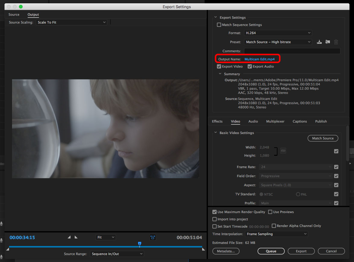 Exporting from Premiere – Emerson College Post Production Labs