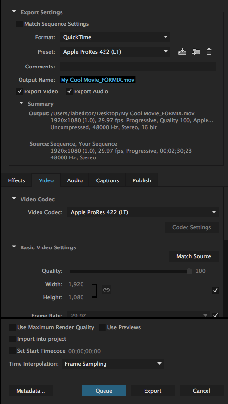 Exporting for Final Mix (Film II) – Emerson College Post